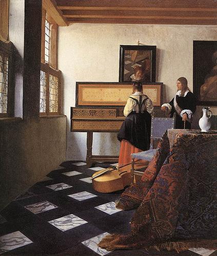 VERMEER_La clase de música 1662-1665
