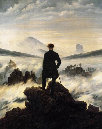 Friedrich, Viajero contemplando un mar de nubes