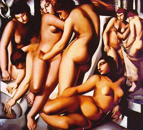 TAMARA LEMPICKA_Mujeres bañandose 1929